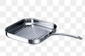 Stainless Steel Frying Pan - Barbecue Grill Stainless Steel Frying Pan Non-stick Surface PNG