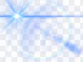 Blue Lens Glow Effect Picture - Light Triangle Sky Blue PNG