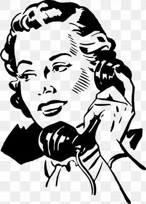 Gossip - Telephone Mobile Phones Woman Clip Art PNG