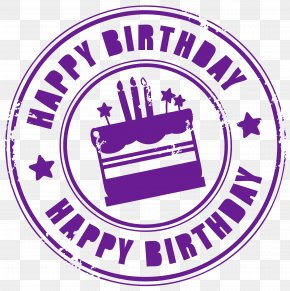 Happy Birthday Stamp Clipart Picture - Birthday Cake Clip Art PNG