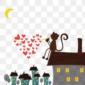 Roof Cat - Cat Roof Eaves Vecteur PNG
