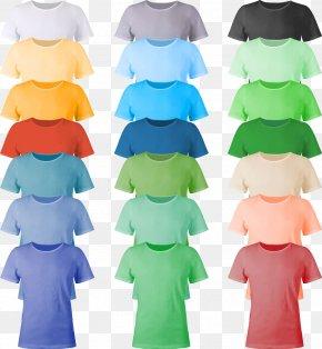 Color T-shirt Design Image - Printed T-shirt Clothing PNG