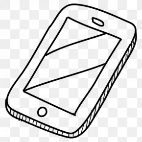 Design - Black And White Drawing Mobile Phones Clip Art PNG