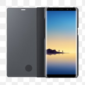 Samsung Note 8 Mockup - Samsung S-View Flip Cover EF-ZN950 For Cell Phone Protective Cover Smartphone Qi Inductive Charging PNG