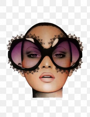 3d Fashion Sunglasses Beauty - Artist Painting Portrait Drawing PNG