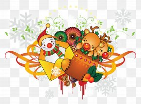 2018 - New Year Christmas Clip Art PNG
