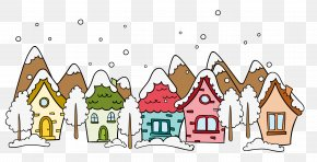 Cartoon Winter Snow-covered Outdoor - Daxue Lidong Snow Winter PNG