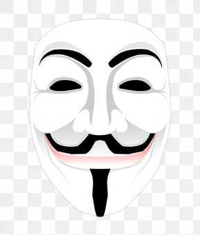 Anonymous Mask - Guy Fawkes Mask Anonymous Clip Art PNG