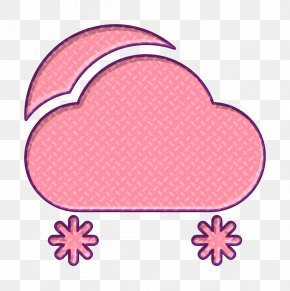 Peach Heart - Cloud Icon Day Icon Snow Icon PNG
