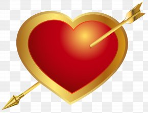 Heart With Arrow Clip Art Image - Hearts And Arrows Clip Art PNG