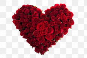 A Bunch Of Heart Flowers - Rose Valentines Day Love Floristry Romance PNG