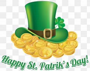St Patricks Day Coins And Hat Transparent PNG Clip Art Image - Saint Patrick's Day Ireland Shamrock Clip Art PNG