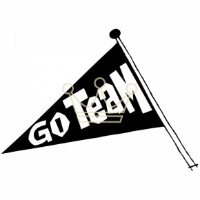 Go Team Cliparts - Pennant Team Clip Art PNG