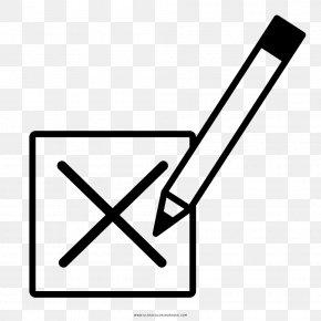 Emoji Para Colorear - Voting Drawing Ballot Box Election Suffrage PNG