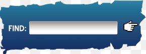 Blue Search Box - Button Search Box PNG
