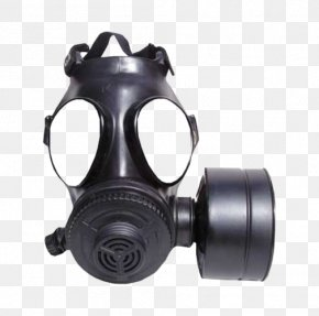 The Gas Mask Is Black - Gas Mask Military Respirator PNG