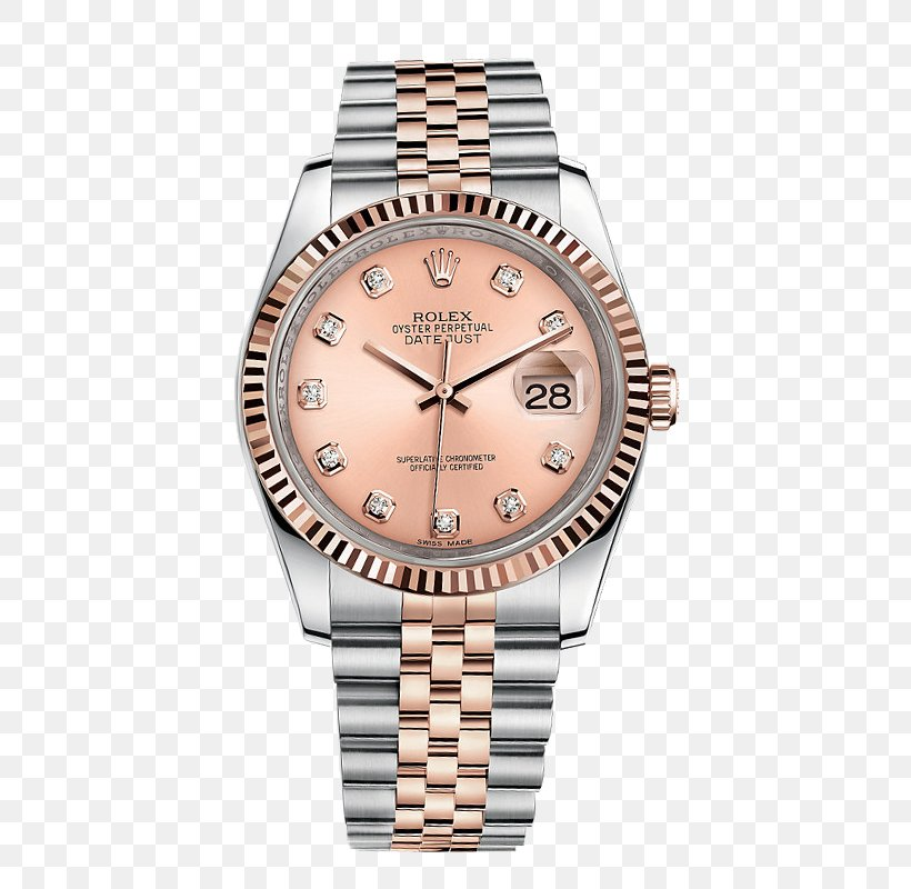 Rolex Datejust Watch Colored Gold, PNG, 800x800px, Rolex Datejust, Automatic Watch, Brand, Brown, Chronometer Watch Download Free