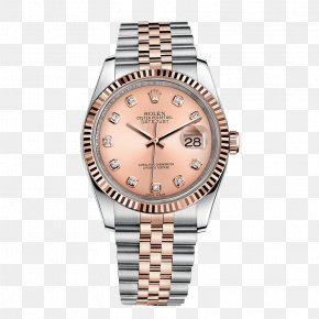 Rose Gold Rolex Watch Male Watch - Rolex Datejust Watch Colored Gold PNG