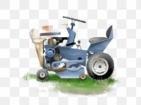 Cartoon Grass Tractor - Tractor Cartoon PNG