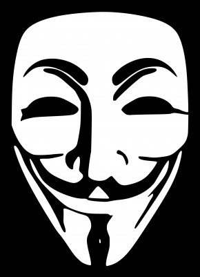Anonymous Mask - 2013 Singapore Cyberattacks Anonymous Security Hacker Hacker Group Sticker PNG