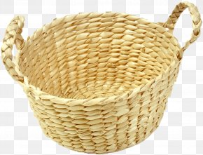 Basket - Basket Wicker Bamboe Rattan PNG