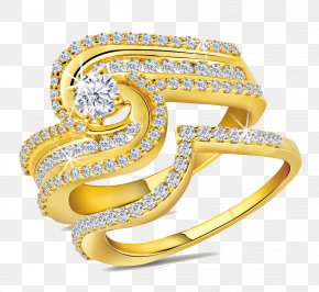 Gold Rings File - Jewellery Gold Ring Diamond PNG