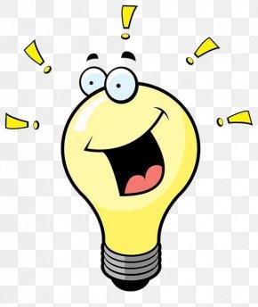 Yellow Light Bulb Cartoon Characters - Incandescent Light Bulb Electric Light Clip Art PNG