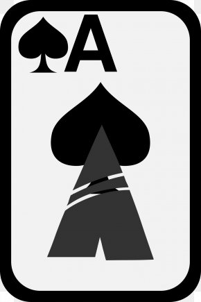 Spade - Ace Of Spades Playing Card Clip Art PNG