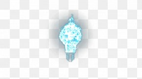 Light Bulb - Turquoise Pattern PNG