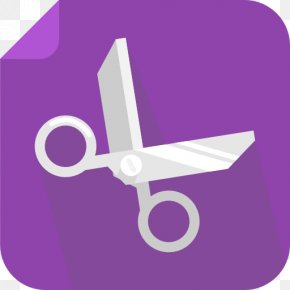 Cut - Angle Purple Symbol PNG