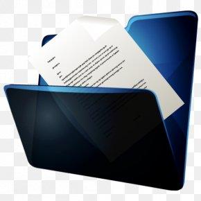 Folder Documents - Blue Brand Multimedia Font PNG