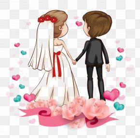 Cartoon Couple - Love Romance Couple Cartoon Marriage PNG
