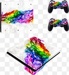 Ripples Ripple - Sony PlayStation 4 Slim Video Game Consoles Decal PNG