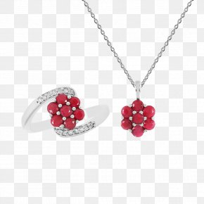 Ruby - Ruby Necklace Ring Jewellery Bijou PNG