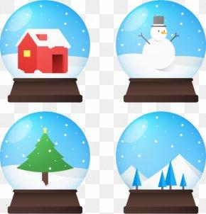Winter Crystal Ball - Snow Crystal Ball Winter PNG