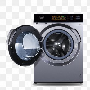 Space Silver Washing Machine - Photography Photographic Studio Washing Machine PNG