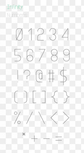 Countdown 5 Days Font Design - Open-source Unicode Typefaces Typography Infinity Symbol Type Design Font PNG