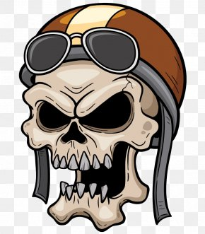 Cranial Skeleton Head With A Hat - Skull Skeleton Head PNG