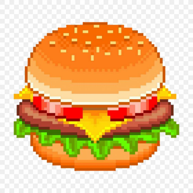 Hamburger Cheeseburger Fast Food Pixel Art Png 1024x1024px