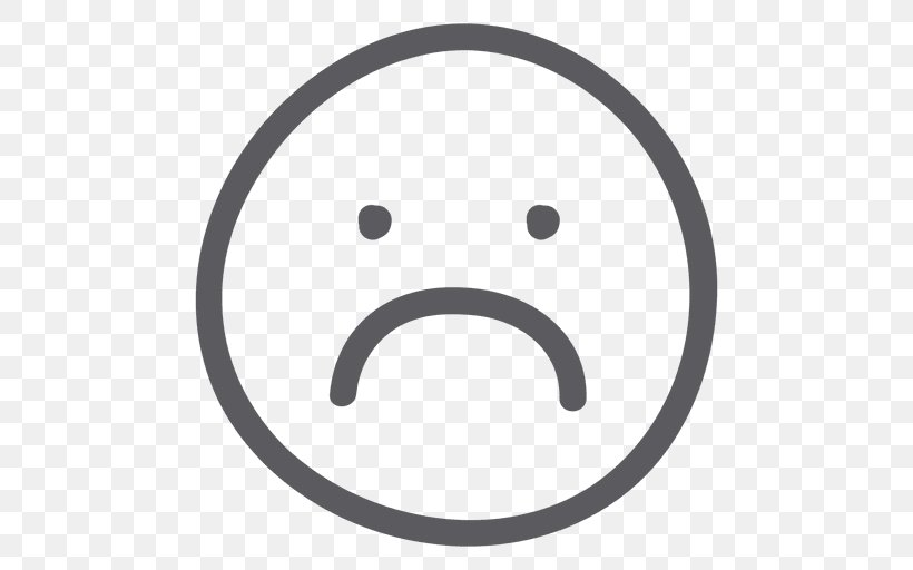 Emoticon Smiley Sadness, PNG, 512x512px, Emoticon, Black And White, Emoji, Face, Facial Expression Download Free