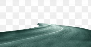 Green Simple Road Decoration Pattern - Teal Sky Angle Wallpaper PNG