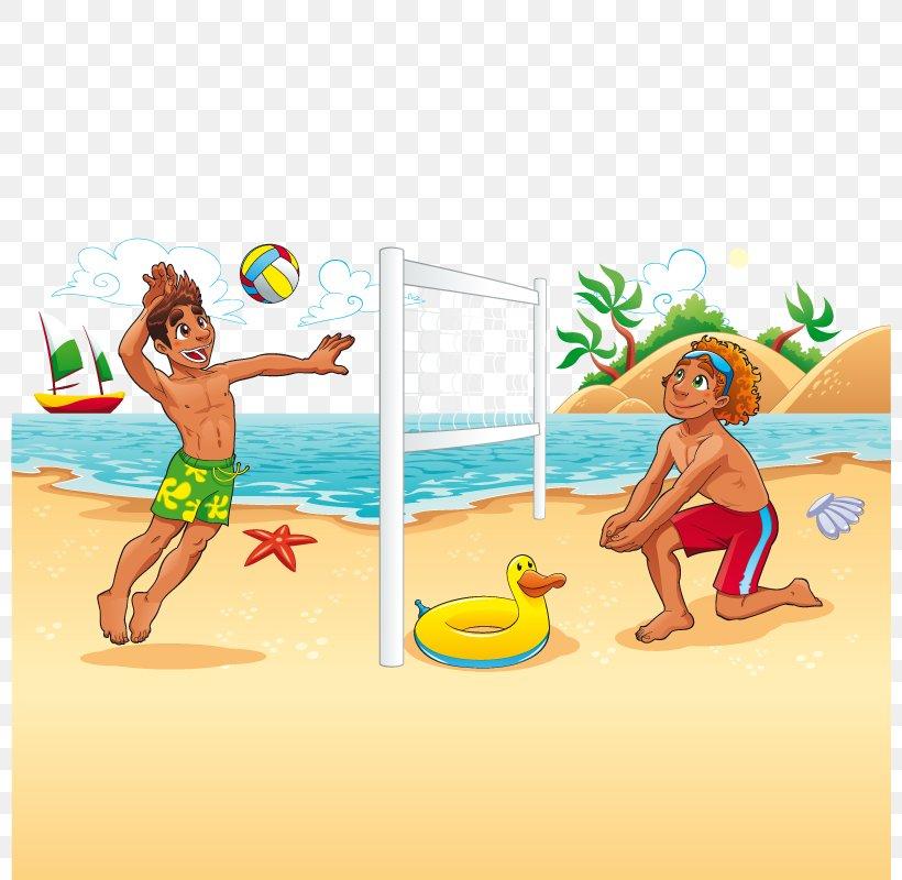 Beach Volleyball Cartoon, PNG, 800x800px, Beach Volleyball, Art, Ball, Beach, Beach Ball Download Free