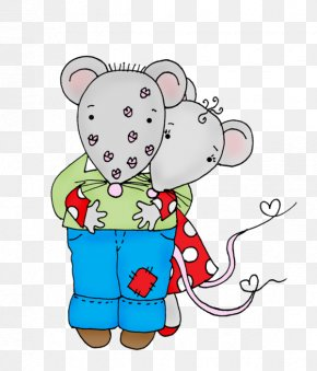 Love Mouse Cartoon Illustration - Drawing Cartoon Illustration PNG