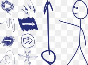 Graffiti Vector Direction Of The Arrow People - Arrow Drawing Euclidean Vector PNG