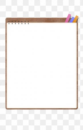 Notebook - Paper Text Picture Frame Yellow Pattern PNG