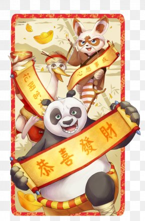 Happy Chinese New Year - Po Giant Panda Mr. Ping Tigress Chinese New Year PNG