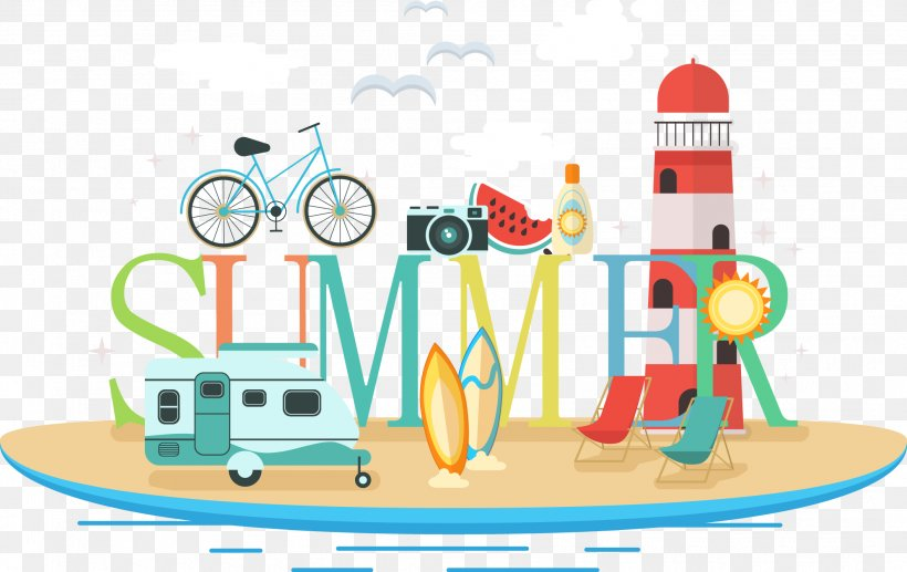 Summer Illustration, PNG, 2110x1332px, Summer, Area, Art, Cartoon, Recreation Download Free