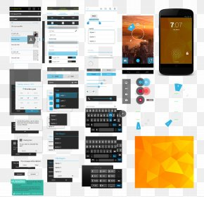 Phone Software APP - Android Graphical User Interface Mobile App Template PNG