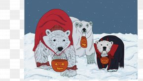 Polar Bear - Hamlet Of Arviat Polar Bear Churchill Halloween PNG