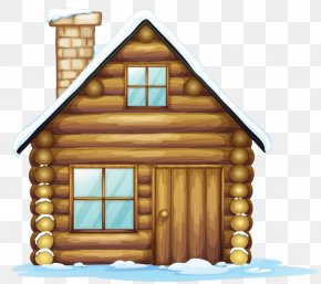 Winter Christmas House Clipart - Gingerbread House Christmas Clip Art PNG